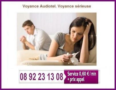 08 92 23 13 08 (Service 0,60 €/mn + prix appel) voyance audiotel sérieuse